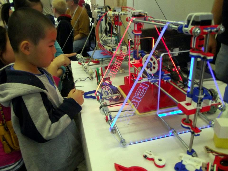 Vision 3d Printers at the 2012 UC Mini Maker Faire